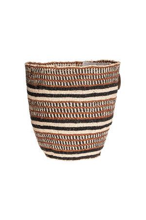 Couleur Locale Sisal mandje Kenia - aardetinten #22
