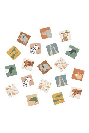 Sebra Memory spel - wildlife