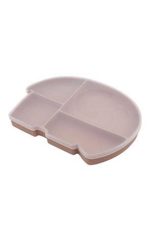 Sebra Silicone plate w/ lid, fanto the elephant - blossom