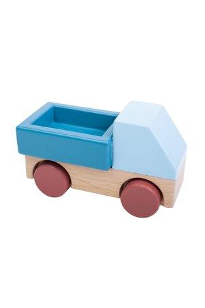 Sebra Houten pickup truck - stone blue