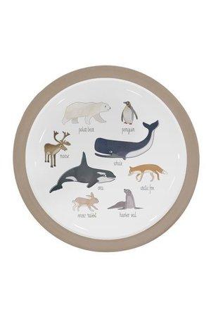 Sebra Melamine plate - arctic animals