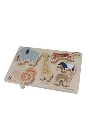 Sebra Wooden chunky puzzle - wildlife