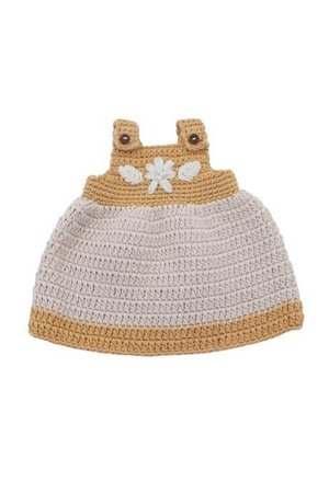 Sebra Doll''s clothes, dress - golden yellow