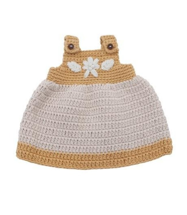 Doll''s clothes, dress - golden yellow