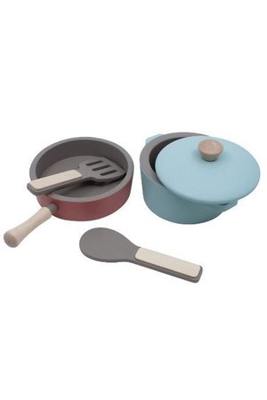 Sebra Wooden kitchen tools set - warm grey