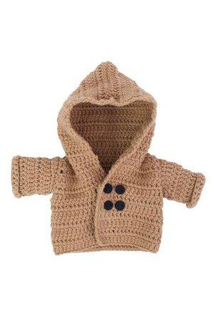 Sebra Dolls clothes, jacket - mushroom brown