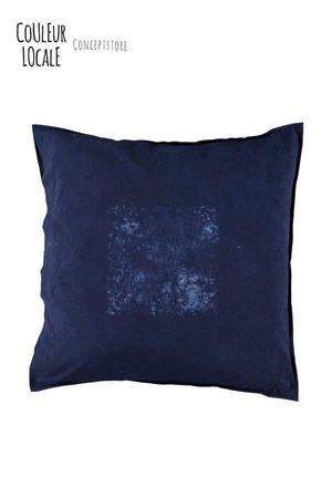 Heartwear Indigo cushion #1