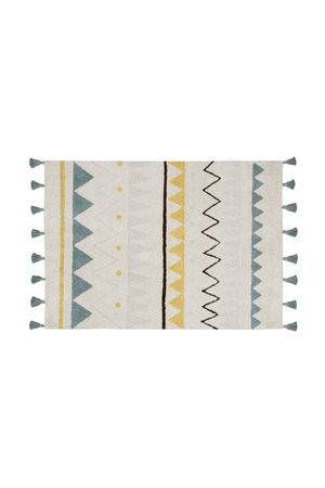 Lorena Canals Azteca natural-azul rug