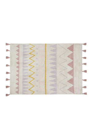 Lorena Canals Azteca naturel-roze tapijt