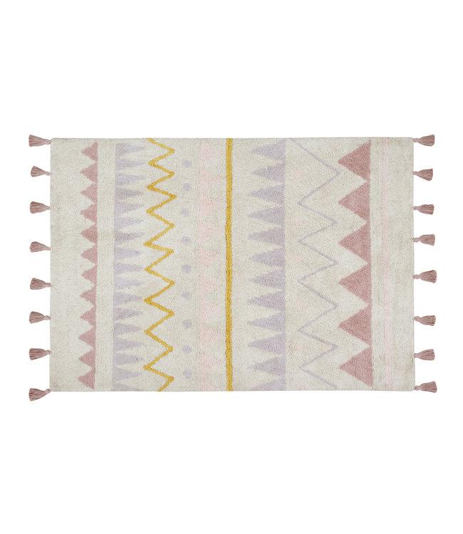 Azteca naturel-roze tapijt
