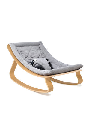 Charlie Crane Levo beech wood baby bouncer - sweet grey