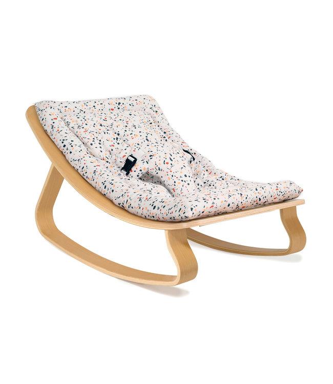 Levo beukenhout baby wipstoel - milinane terrazzo