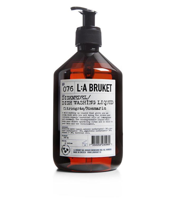 LA Bruket 076 Dishwashing liquid lemongrass/rosemary - 500 ml