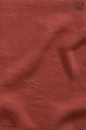 Linge Particulier Kussensloop linnen - terracotta