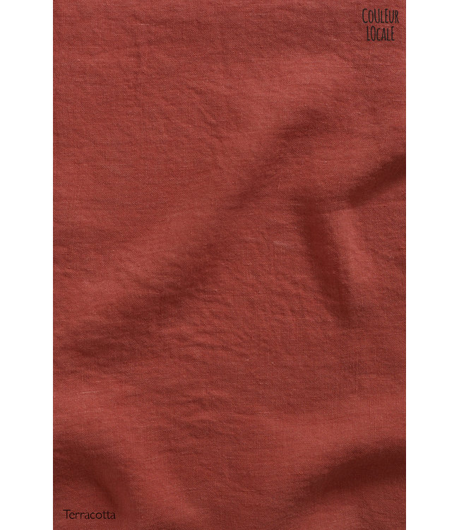 Pillow case linen -  terracotta