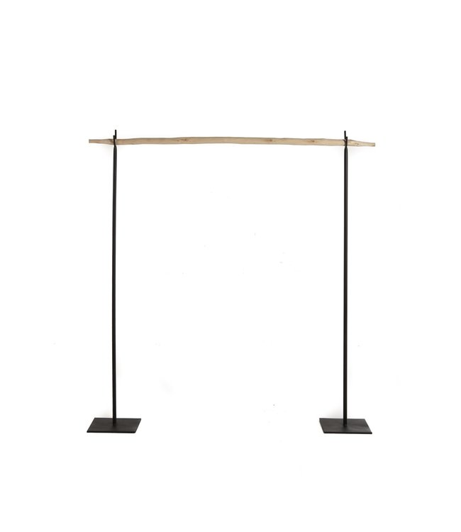 Coat rack -  wood & black iron