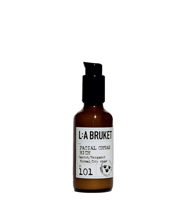 LA Bruket 101 Facial cream rich carrot/bergamot - 50 ml
