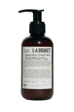 LA Bruket 218 Beard wash cedarwood/rosemary/orange - 200ml