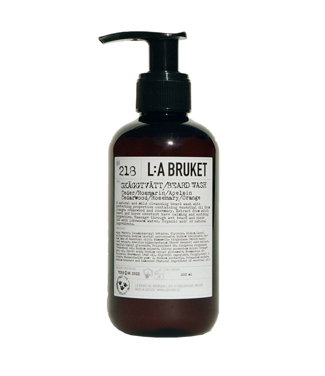 218 Beard wash cedarwood/rosemary/orange - 200ml