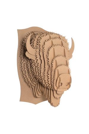 Cardboard Safari Kartonnen dierenhoofd - Billy bizon