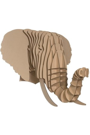 Cardboard Safari Cardboard animal head - Eyan elephant