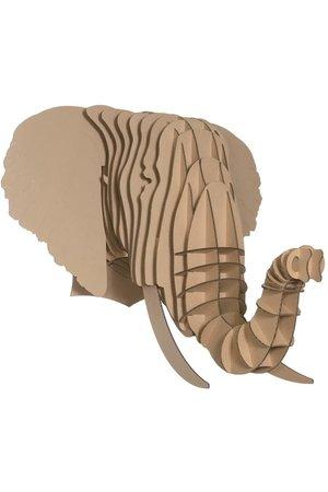Cardboard Safari Cardboard animal head - Eyan elephant
