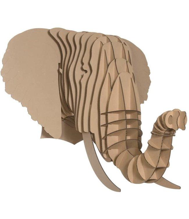 Kartonnen dierenhoofd - Eyan olifant
