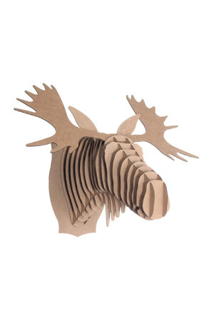 Cardboard Safari Kartonnen animal head - Fred moose