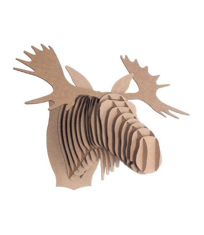 Kartonnen animal head - Fred moose