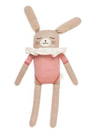 Main Sauvage Big bunny soft toy - rose bodysuit
