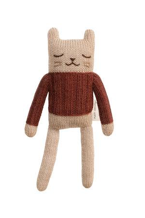 Main Sauvage Kitten soft toy - sienna sweater