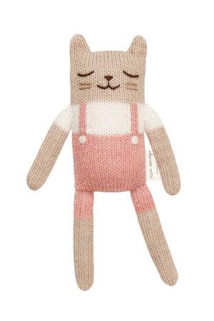 Main Sauvage Kitten soft toy - rose overalls