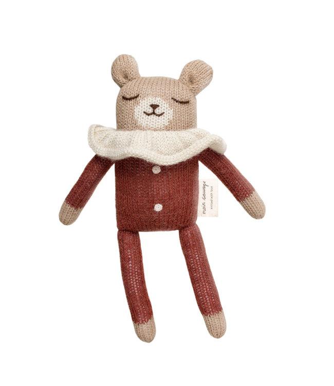 Main Sauvage Teddy soft toy - sienna pyjamas