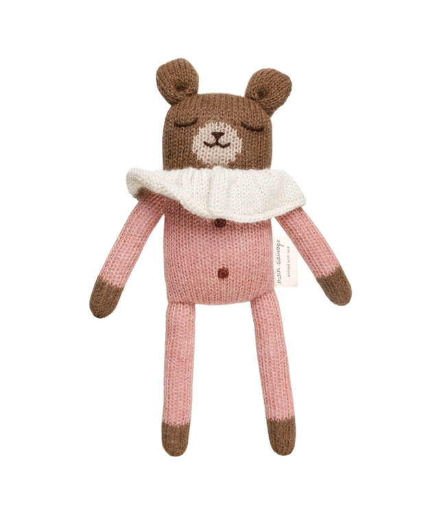 Teddy soft toy - rose overalls