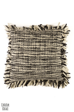 Floor cushion Africa nero/riso