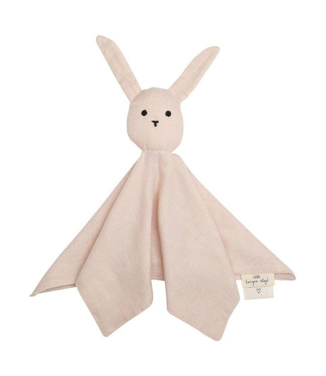 Knuffeldoekje konijn - rose dust
