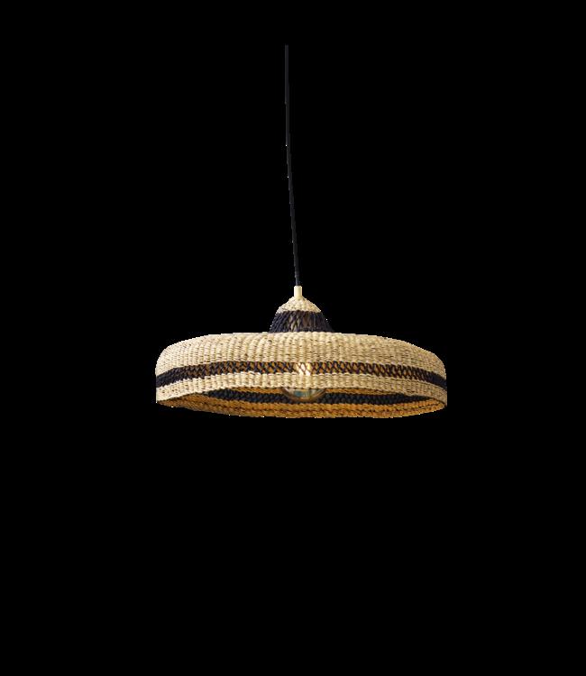 Hanging lamp ' hatter' - naturel/midnight