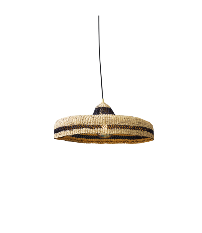 Hanglamp 'hatter' - naturel/midnight
