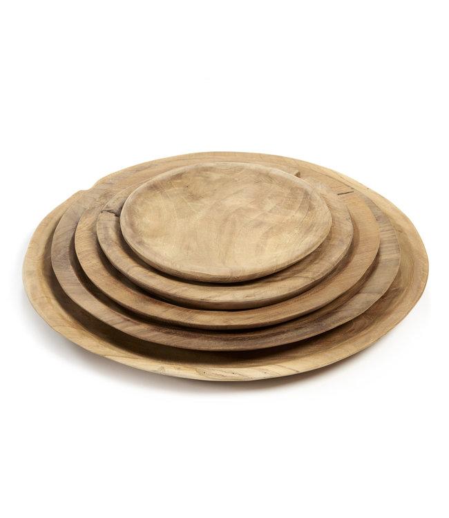 Tucson plate teak wood