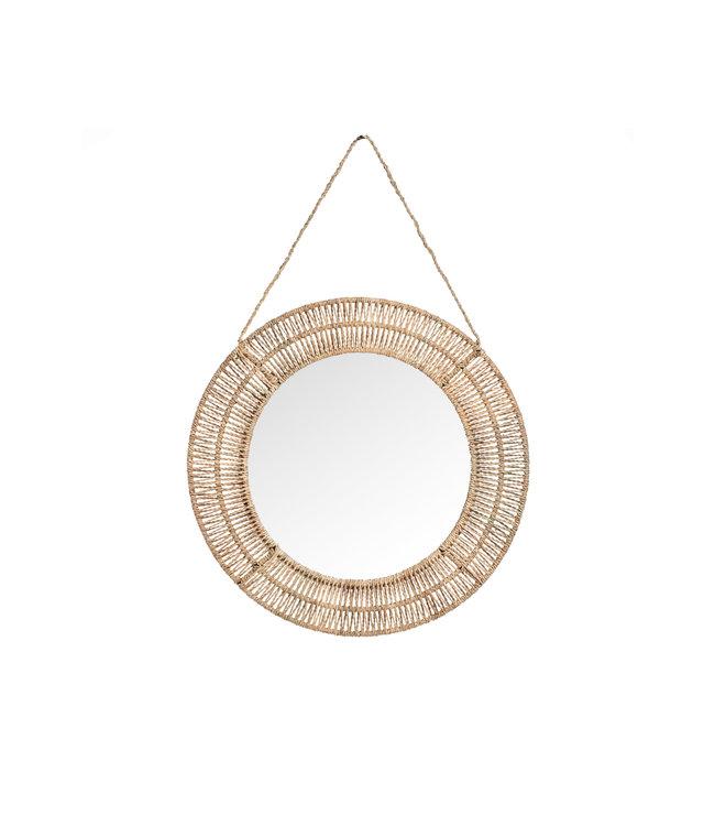 Ronde spiegel palmkoord