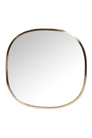 Spiegel messing , vierkant