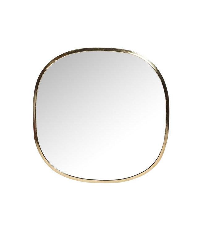 Mirror brass , square