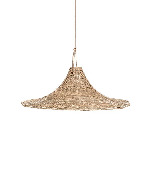 Hanglamp palmbladeren met metalen structuur XL