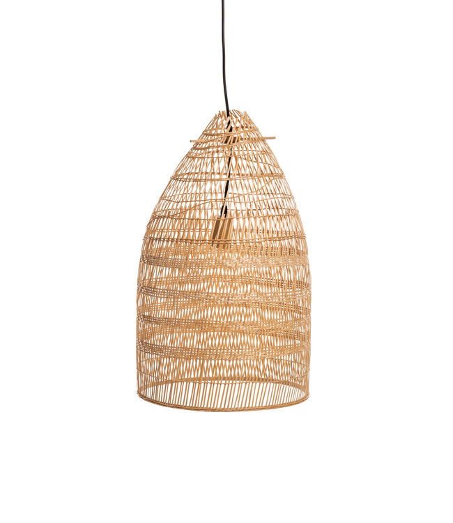 Large natural bamboo pendant lamp