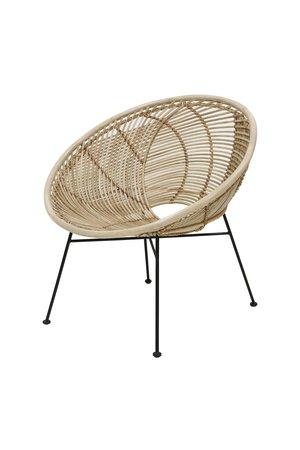 Rattan ball  lounge chair natural