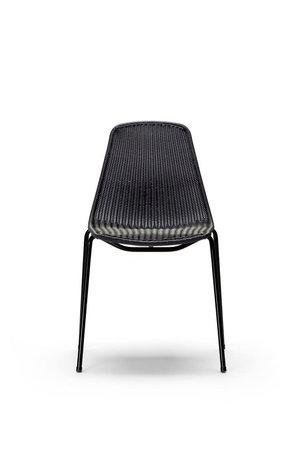 Feelgood Designs Basket chair indoor - black frame / pulut dark grey