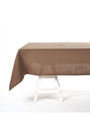 Libeco Timmery tablecloth - beeswax brown