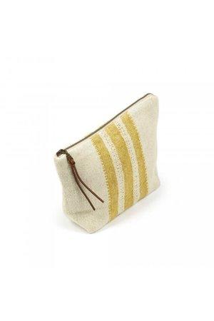 Libeco The Belgian pouch mini etui - mustard stripe