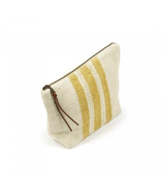 The Belgian pouch pouch - mustard stripe
