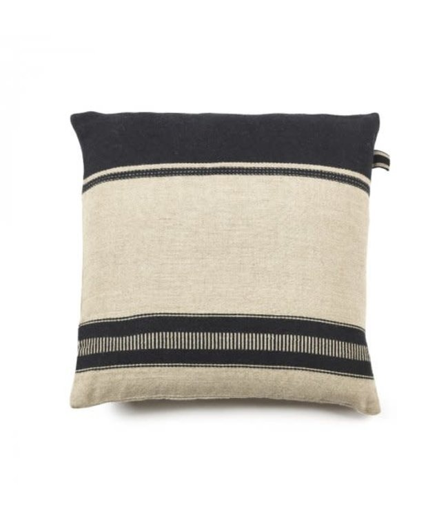 Libeco Marshall deco cushion - multi stripe